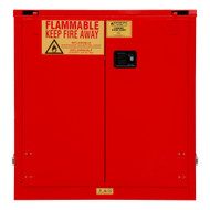 Durham FM Approved 30 Gallon, Self Closing, Red Flammable Safety Cabinet - 1030S-17