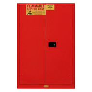 Durham FM Approved 45 Gallon, Manual Closing, Red Flammable Safety Cabinet - 1045M-17