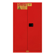 Durham FM Approved 60 Gallon, Manual Closing, Red Flammable Safety Cabinet - 1060M-17