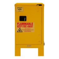 Durham FM Approved 12 Gallon, Self Closing, Yellow Flammable Safety Cabinet with Legs - 1012SL-50