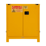Durham FM Approved 30 Gallon, Self Closing, Yellow Flammable Safety Cabinet with Legs - 1030SL-50
