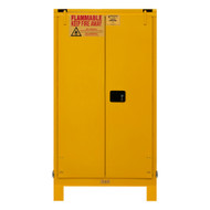 Durham FM Approved 60 Gallon, Self Closing, Yellow Flammable Safety Cabinet with Legs - 1060SL-50