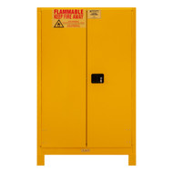 Durham FM Approved 90 Gallon, Manual Closing, Yellow Flammable Safety Cabinet with Legs - 1090ML-50