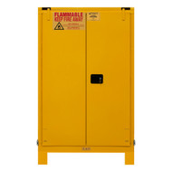 Durham FM Approved 90 Gallon, Self Closing, Yellow Flammable Safety Cabinet with Legs - 1090SL-50