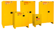 Durham FM Approved Yellow Flammable Safety Cabinets with Legs