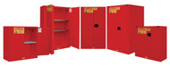 Durham FM Approved Red Flammable Safety Cabinets