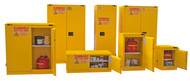 Durham FM Approved Yellow Flammable Safety Cabinets