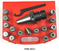 Precise 17 Piece ER-25 CAT40 V-Flange Spring Collet Chuck Set - 3900-4023