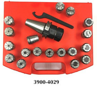 Precise 20 Piece ER-32 CAT40 V-Flange Spring Collet Chuck Set - 3900-4029