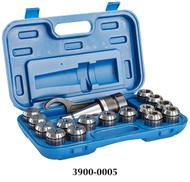 Precise 17 Piece ER-40 R8 Spring Collet Chuck Set - 3900-0005