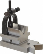 "Precise 1-5/16"" Capacity Toomaker's V-Block with Clamp - 3402-0981"