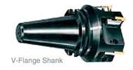 """APT 1-1/4"""" x 40V-Flange Tri-Dex Indexable End Mill - EM125-V40"""