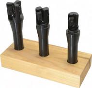 """APT 3 Piece 2-3/4"""", 3"""", 3-1/2"""" Tri-Dex Indexable End Mill Set - EM8R4"""