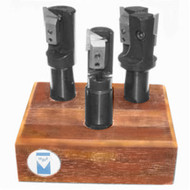 "APT 3 Piece 1-1/4"", 1-1/2"", 2"" Tri-Dex Indexable End Mill Set - EMV1000"