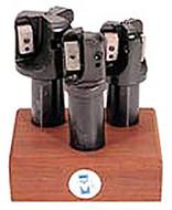 "APT 3 Piece 1-1/2"", 1-3/4"", 2"" Coolant Fed Tri-Dex Indexable End Mill Set - EMC1000"