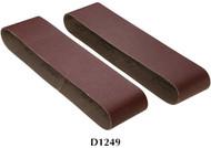 "Shop Fox Woodstock 4"" x 36"" 60 Grit Aluminum Oxide Sanding Belt - 2 Pk. - D1249"