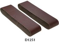 "Shop Fox Woodstock 4"" x 36"" 100 Grit Aluminum Oxide Sanding Belt - 2 Pk - D1251"