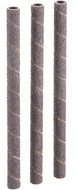 "Shop Fox 1/4"" Dia. x 5"" 120 Grit Aluminum Oxide Hard Sanding Sleeve, 3 Pack - D1403"