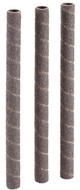 "Shop Fox 3/8"" Dia. x 6"" 100 Grit Aluminum Oxide Hard Sanding Sleeve, 3 Pack - D1407"
