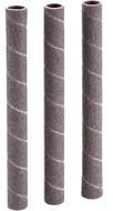 "Shop Fox 1/2"" Dia. x 6"" 80 Grit Aluminum Oxide Hard Sanding Sleeve, 3 Pack - D1421"