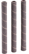 "Shop Fox 1/2"" Dia. x 6"" 120 Grit Aluminum Oxide Hard Sanding Sleeve, 3 Pack - D1423"