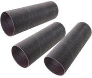 "Shop Fox 3"" Dia. x 9"" 60 Grit Aluminum Oxide Hard Sanding Sleeve, 3 Pack - D4632"