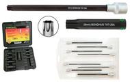 "Bondhus TORX® Socket Bit Set PHTX10/S-2C, 10 Pieces, Sockets & Bits, T10-T55, 2""/50mm Bit Length - 31038"