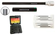 """Bondhus ProHold® Hex End Socket Bit Set PHX9-2C, 9 Pieces, Bits Only, 5/32 - 5/8"""", 2""""/50mm Bit Length - 23299"""
