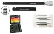 """Bondhus ProHold® Tip Ball End Socket Bit Set PHBX8M-2C, 8 Pieces, Bits Only, 3-10mm, 2""""/50mm Bit Length - 23487"""