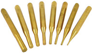 Precise 8 Piece Brass Drive Pin Punch Set - 8600-4110