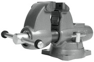 """Wilton Combination Pipe & Bench Round Channel Vise with Swivel Base, 3-1/2"""" Jaw Width - 28825"""