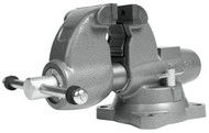 """Wilton Combination Pipe & Bench Round Channel Vise with Swivel Base, 4-1/2"""" Jaw Width - 28826"""
