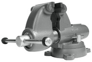 """Wilton Combination Pipe & Bench Round Channel Vise with Swivel Base, 5"""" Jaw Width - 28827"""