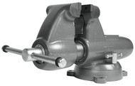 """Wilton Combination Pipe & Bench Round Channel Vise with Swivel Base, 6"""" Jaw Width - 28828"""