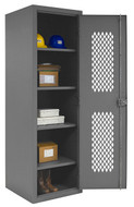 Durham MFG. Ventilated Locker, 16 Gauge, 4 Shelves - HDCL-242478-4S-95