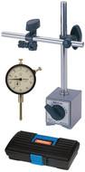 """Mitutoyo Tool Kit, 0-1"""" Range Dial Indicator w/ Magnetic Base - 64PKA075"""