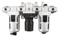 "PRO-SOURCE 1/2"" NPT Port Standard 3 Piece Filter-Regulator-Lubricator FRL Unit 1640005050JP - PRO-50JP"