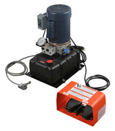 Hossfeld H60 Hydraulic Pump with Hoses and Foot Control - 49405