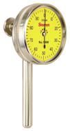 Starrett Universal Back Plunger Dial Indicator, 5mm Range, 0-100 Dial Face, 0.02mm Graduation - 196MB1