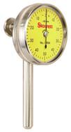 Starrett Universal Back Plunger Dial Indicator, 5mm Range, 0-50-0 Dial Face, 0.02mm Graduation - 196MB5