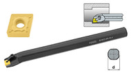 """TMX Boring Bar with Coolant Hole, AI-MCLNL 24-4T for Negative 80° CNM Inserts, Left Hand, 1.5"""" Shank Dia., 14"""" Length - 6-760-644L"""