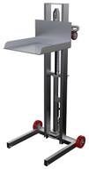 "Vestil Low Profile Lite Load Lift, Aluminum, 19-1/2"" x 20"" Platform, 1/4"" to 48-1/4"" Service Range, Foot Pump Operation - ALLPH-500-FWFL"