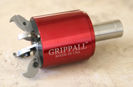 Large Grippall™ Four Finger CNC Bar Puller, 32mm Round Mounting Shank - GA-M-32MR4F