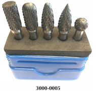 "Precise 1/4"" Shank Double Cut Carbide Burr Sets"