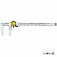 Starrett Long Nib Dial Calipers, 0-300mm, EDP 65154 - 120MB-300