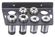 Vertex 8 Piece 5C Collet Rack VMS-5, (Collets Not Included)  - 3900-1609