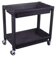 Astro Heavy Duty Plastic 2 Shelf Utility Cart, Black - AP8330