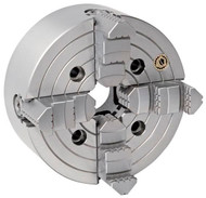 """Bison 4-Jaw Independent Lathe Chuck, 8"""" Size, A2-6 Spindle - 7-851-0816"""
