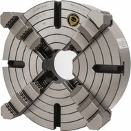 """Bison 4-Jaw Independent Lathe Chuck, 12"""" Size, L2 Spindle - 7-854-1244"""