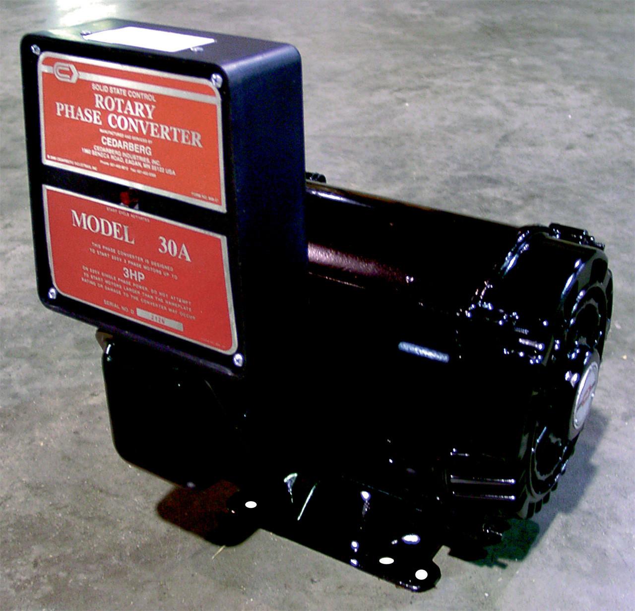 Cederberg Standard Duty Rotary Type Phase Converter, Model